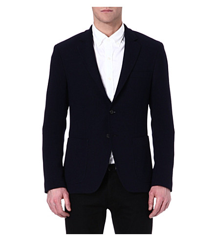 JOSEPH Londra textured blazer (Navy