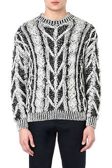 JOSEPH Contrast cable-knit jumper