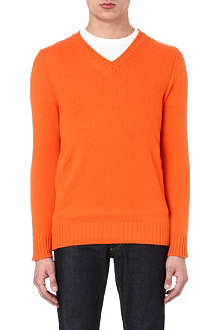 JOSEPH V-neck luxury cashmere jumper