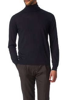 JOSEPH Cashmere and silk-blend roll-neck jumper