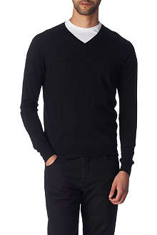 JOSEPH Elbow-patch wool jumper