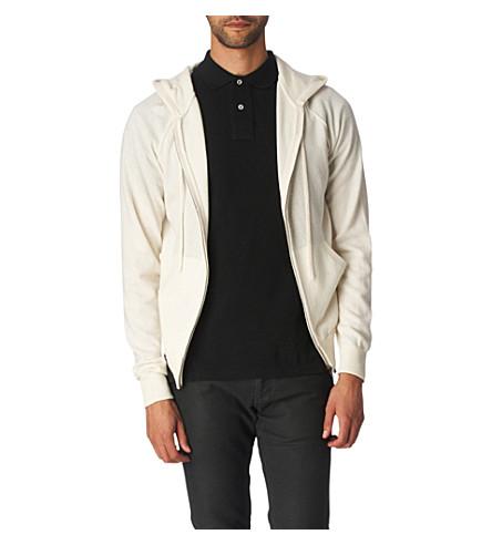 JOSEPH Hooded cashmere cardigan (Ecru