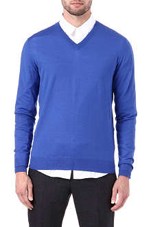 JOSEPH Merino wool v-neck jumper