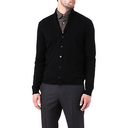 JOSEPH Shawl collar cardigan (Black