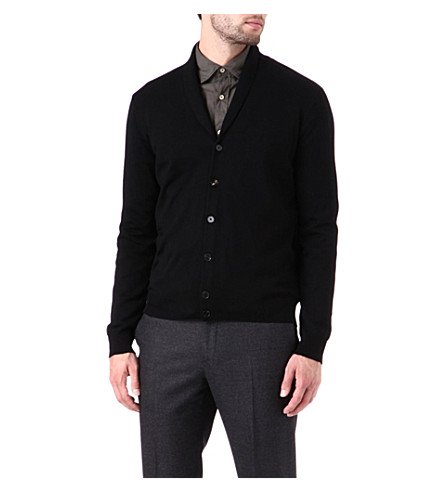 JOSEPH Shawl collar cardigan (Black