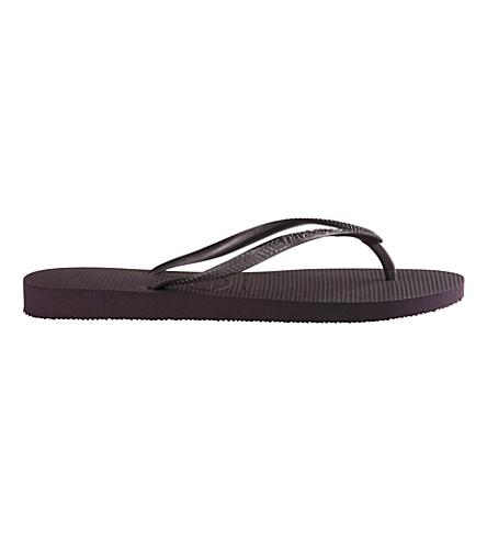HAVAIANAS Slim flip flops (Aubergine