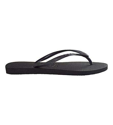 HAVAIANAS Slim flip flops (Black