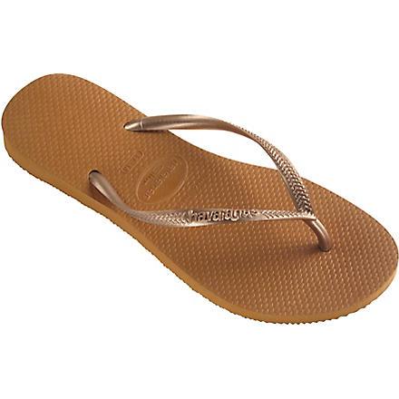 HAVAIANAS Slim flip flops (Copper