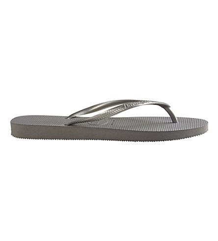 HAVAIANAS Slim flip flops (Grey/silver