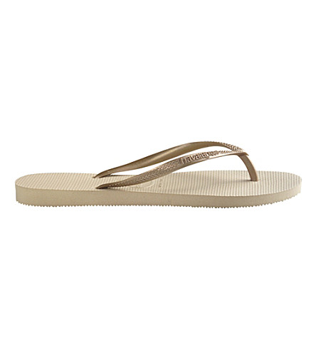 HAVAIANAS Slim flip flops (Sand grey/light gold