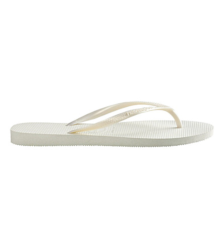 HAVAIANAS Slim flip flops (White