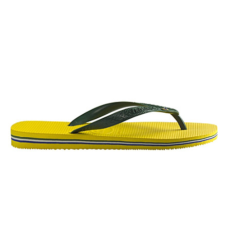 HAVAIANAS Brasil flip-flops (Citrus+yellow