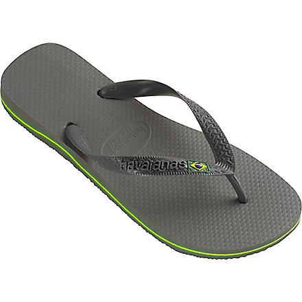 HAVAIANAS Brasil flip flops (Grey