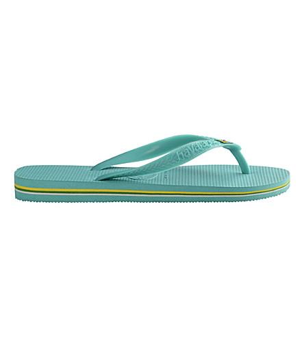 HAVAIANAS Brazil flip-flops (Lake+green
