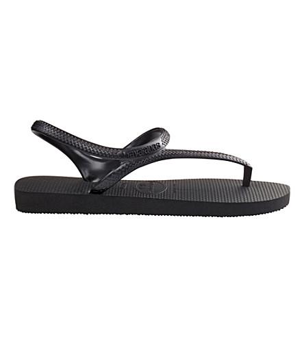 HAVAIANAS Flash flip flops (Black/black