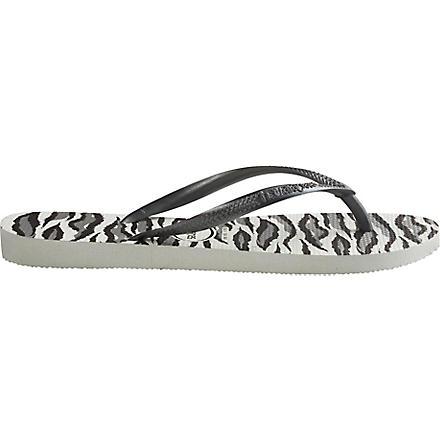 HAVAIANAS Slim flip flops (White/grey