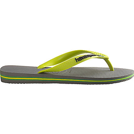 HAVAIANAS Brasil flip flops (Grey/lime green