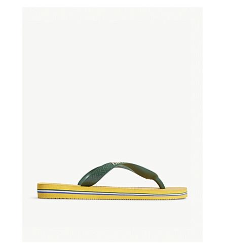 HAVAIANAS 巴西标志橡胶人字拖 (Amarelo + 香蕉