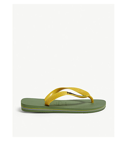 HAVAIANAS Brazil logo rubber flip-flops Green bamboo Outlet 2018 Official Cheap Price Discount Limited Edition Online Discount 100% Authentic r7tf0aKK
