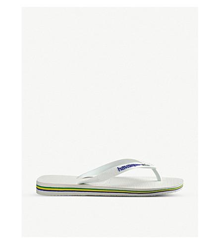 HAVAIANAS Brazil logo rubber flip-flops (White