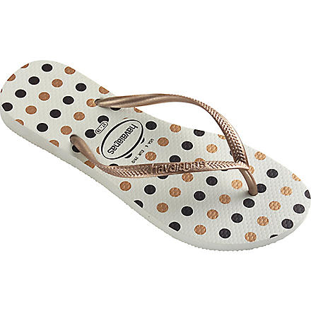 HAVAIANAS Slim flip flops (White/rose+gold