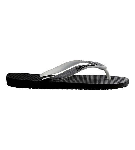 HAVAIANAS 顶 flip-flops (黑色/钢 + 灰色