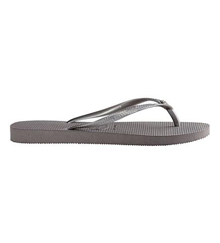 HAVAIANAS Slim embellished flip-flops (Fog