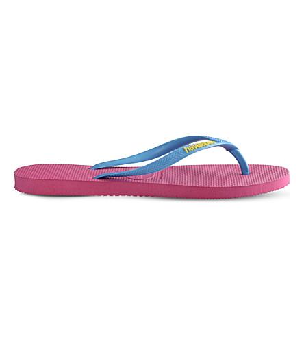 HAVAIANAS Slim flip-flops (Rose/turquoise