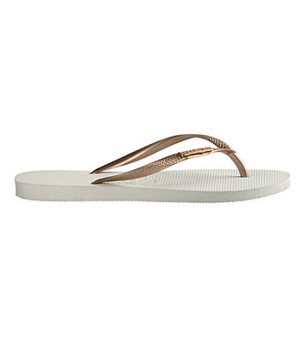 HAVAIANAS Slim flip flops (White/rose