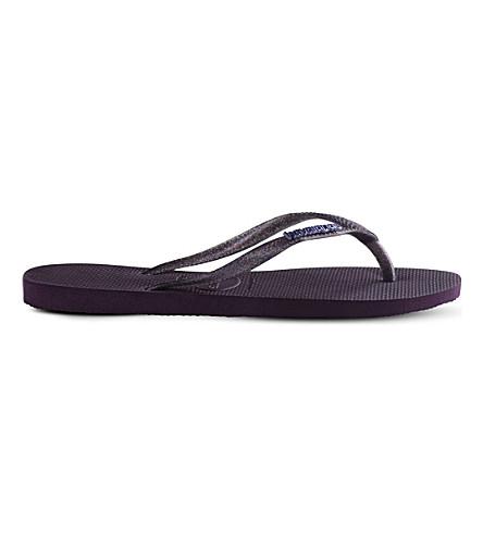HAVAIANAS Slim rubber flip-flops (Aubergine
