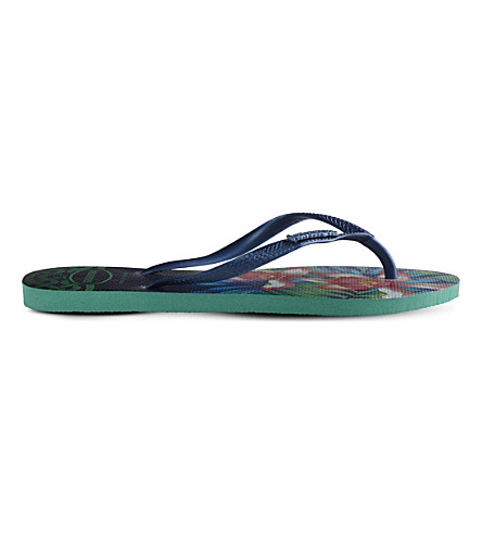HAVAIANAS Slim Tropical flip-flops (Mint+green