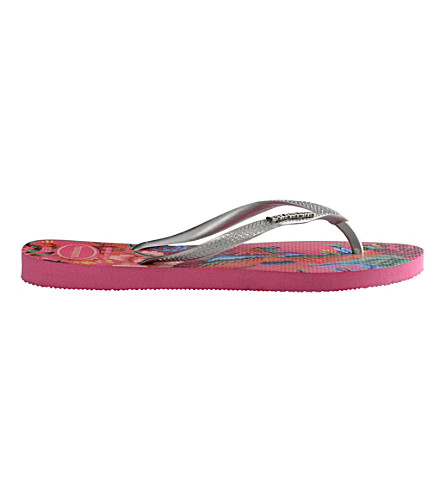 HAVAIANAS Slim Tropical flip-flops (Orchid+rose