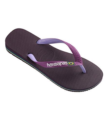 HAVAIANAS Brasil flip flops (Aubergine