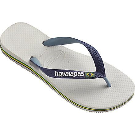 HAVAIANAS Brasil flip flops (White/navy blue