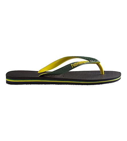 HAVAIANAS Brazil logo rubber flip-flops (Black