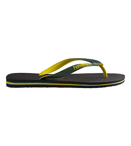 HAVAIANAS 巴西标志橡胶 flip-flops (黑色
