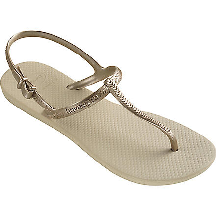 HAVAIANAS Freedom flip flops (Sand grey/light gold