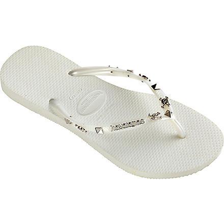 HAVAIANAS Hardware flip flops (White/white