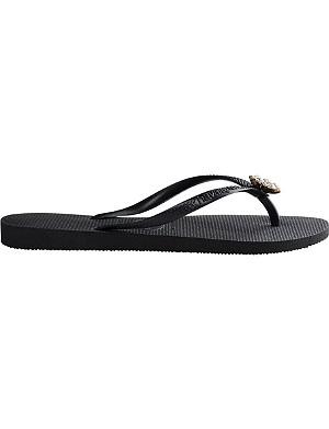 HAVAIANAS Gem-embellished flip flops
