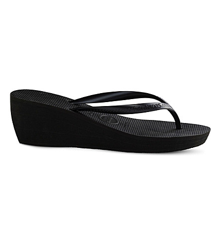 HAVAIANAS High Fashion wedge flip-flops (Black