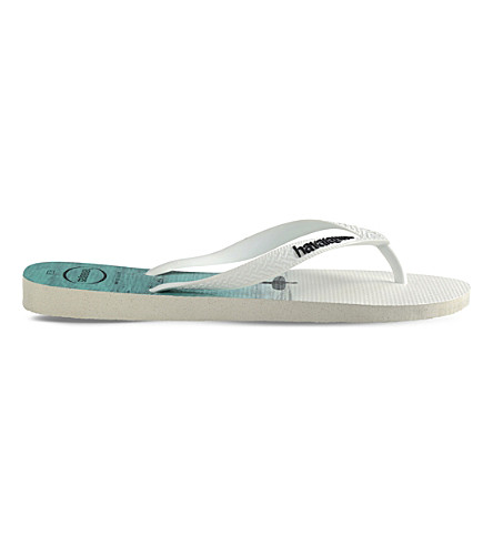 HAVAIANAS Hype graphic-print rubber flip-flops (Ice+grey