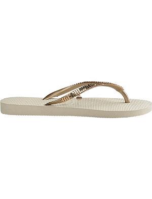 HAVAIANAS Sequin-embellished flip flops