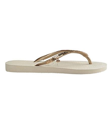 HAVAIANAS Embellished flip-flops (Beige