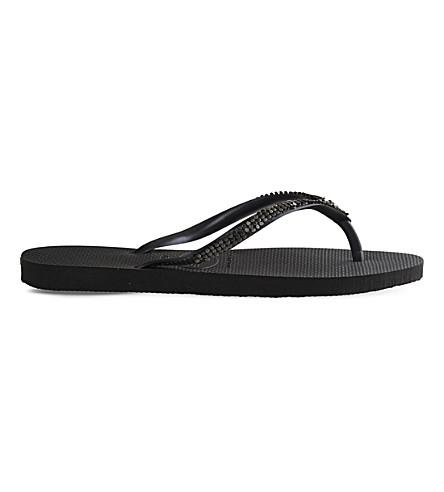 HAVAIANAS Embellished flip-flops (Dark+grey