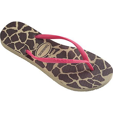 HAVAIANAS Slim flip flops (Sandgrey/pink