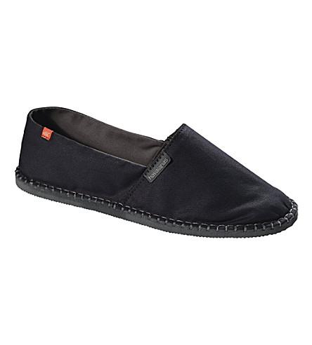 HAVAIANAS 原 II 帆布布鞋 (黑色