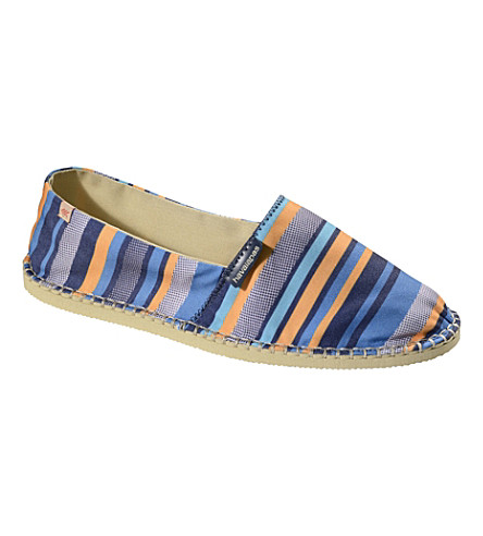 HAVAIANAS Origine Trend canvas espadrilles (Blue/orange