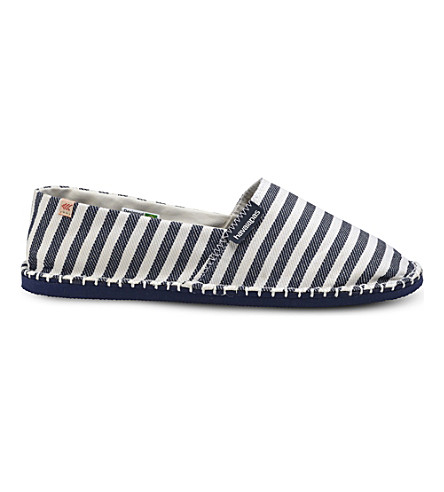 HAVAIANAS Origine III striped canvas espadrilles (Listras
