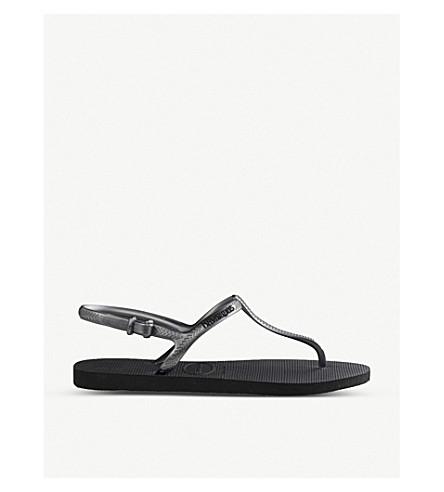 HAVAIANAS Freedom rubber flip-flops (Black