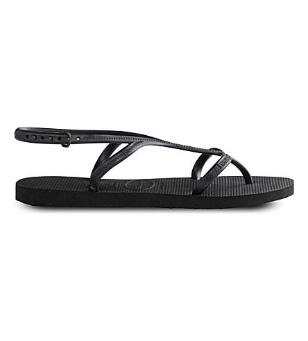 HAVAIANAS Allure caged rubber flip-flops (Black